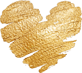 love heart golden glitter ribbon freetoedit