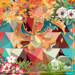charizard bulbasaur pokemon freetoedit