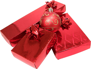 christmas decoration gift red png freetoedit