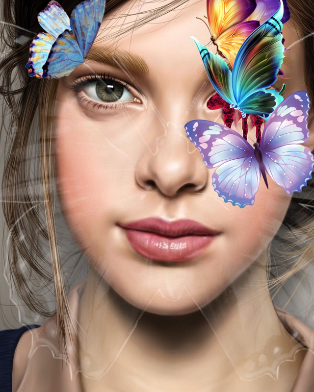 #freetoedit #butterfly #beauty #beautifulgirl #beautiful #silent #butterflys #girl #colors #purple #green #blue #creepy #blood #red #bloody #eye