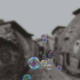 freetoedit bubbles holographic block street