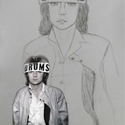 freetoedit rogertaylor drums drummer drawing