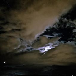 sky clouds moon stars cloudsandsky