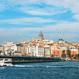 istanbul turkey sea sky galatakulesi freetoedit