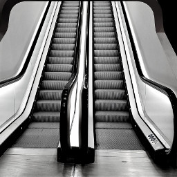 escalator still blackandwhitephotography blackandwhite quiet