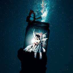 galaxy jar fairy freetoedit ircgalaxyjar galaxyjar