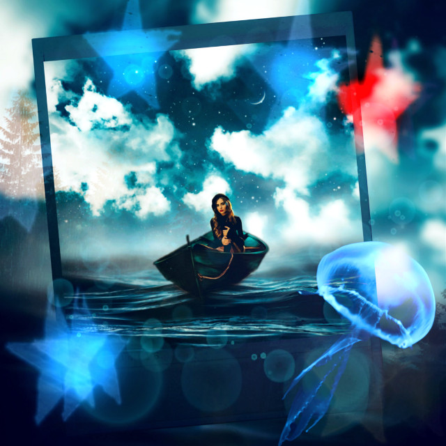 #surreal #surrealism #creative #lights #effects #bokeh #inspiration #madewithpicsart #be_creative #magic #manipulation #polaroid #heypicsart #myedit #mycreation #woman #boat @picsart @freetoedit