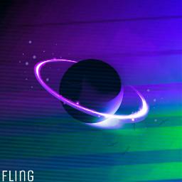 planet neon ring future freetoedit