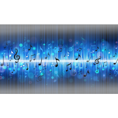 musicnotes blueoverlay bluelight musicalnotes freetoedit