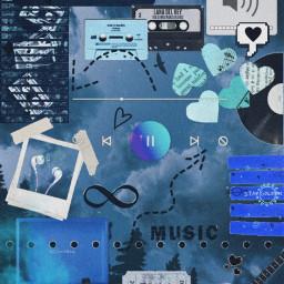freetoedit music aesthetic blue aestheticblue