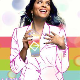 rainbow bubble colorful unicornshake rainbowshake freetoedit ecalittlelate alittlelate