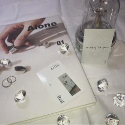 seventeen white al1 diamonds alone