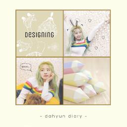 twice dahyun once designer yellow