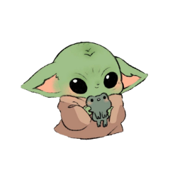 freetoedit babyyoda sticker cute kawaii