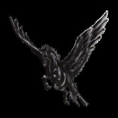 horse equestrian black pegasus fantasy freetoedit