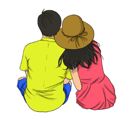 ftestickers couple love sitting aesthetic freetoedit