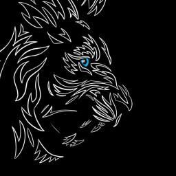 freetoedit lion tribal tattoo tattooart dcoutlineart outlineart