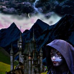 freetoedit fantasyart fantasy doubleexposure castle