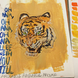 gouache tiger imtryingtodothe aesthetic thing