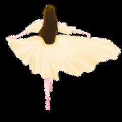ftestickers woman dancing skipping longhair freetoedit