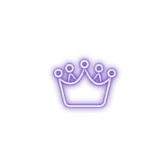 neon glowing neonlight crown queen freetoedit