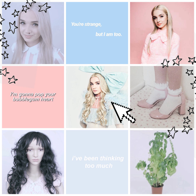 """♪ Everybody wants to be Poppy, Poppy. Everybody wants to be me. ♪"" ~~~~~~~~~~~~~~~~~~~~~~~~~~~~~~~~~~~~~~~ So this is an aesthetic of Poppy or that_poppy as you may know her. She has a weird YouTube channel. I have become obsessed with watching all of her videos to uncover what they really mean. It's kinda in the category of Don't Hug Me I'm Scared videos, so I thought I would make a series of, like, weird YouTube aesthetics if that makes sense. I just love solving mysteries or confusing things so yeah. (Just to be clear I don't like Poppy as a person (or robot), I just love her weird videos. Okay? Okay.) (Also, I am obsessed with Poppy's wardrobe. Pleasegivemeallofherclothesokaybye.) ~~~~~~~~~~~~~~~~~~~~~~~~~~~~~~~~~~~~~~~ Question: What are your favorite weird or dark web YouTube videos/series? ~~~~~~~~~~~~~~~~~~~~~~~~~~~~~~~~~~~~~~~ ✨heyo_aesthetics✨ ~~~~~~~~~~~~~~~~~~~~~~~~~~~~~~~~~~~~~~~ #poppy #poppycomputer #poppychurch #poppyedit #plant #mannequin #aesthetic #retrostars #stars #blue #pink #shoes #cuteshoes #thatpoppy #thatpoppyedit #youtube #darkweb #weird #blonde #videos"