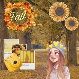 fall fallleaves yellow polaroied freetoedit ecaesthetic aesthetic