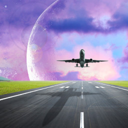 freetoedit airplane clouds background minimaledit