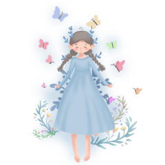 ftestickers fantasyart girl fairy butterflies freetoedit