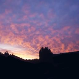 sky sunrise blue bluesky bluehour