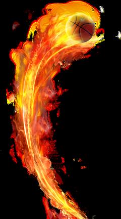 fire ball fireball basketball freetoedit