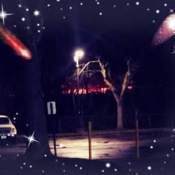 freetoe night shootingstars freetoedit