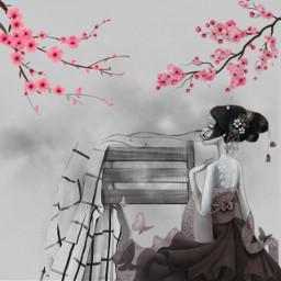 freetoedit geisha color edits edited ircvintageaesthetic vintageaesthetic