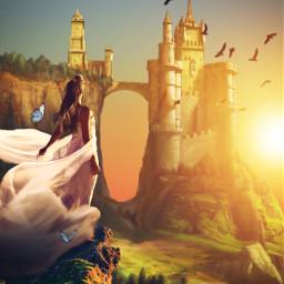unsplash castle sunset freetoedit