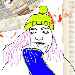 portrait people drawing freetoedit