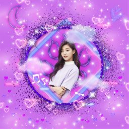 freetoedit tzuyu twice kpop purple