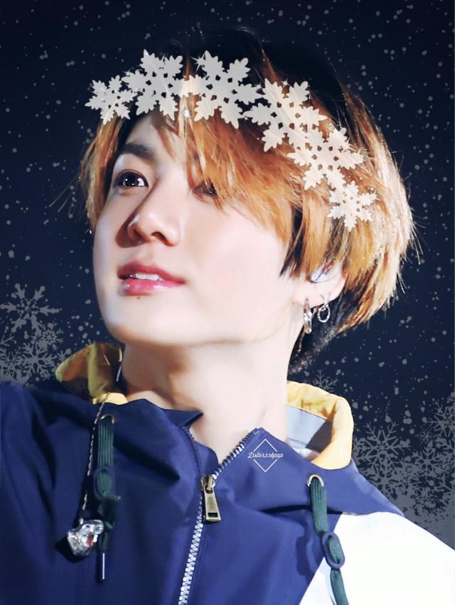 Winter Kookie!💜❄️💜 #jungkook #kookie #bts #kpop #winter #snow #replay #cute #love #overlay #amazing #freetoedit
