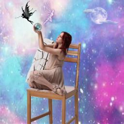 freetoedit fairy galaxy ball neon ircvintageaesthetic