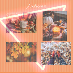 autumn picsart colage stripes tea freetoedit