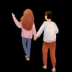 ftestickers love couple walking holdinghands freetoedit