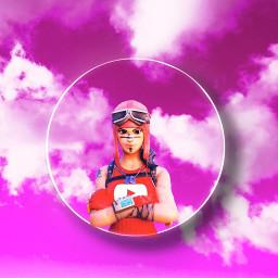 freetoedit fortnite circleframe pinkclouds colorfulbackground
