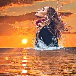 freetoedit splash sunset bright orange ircautumnvibes autumnvibes