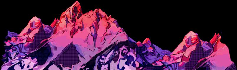 mountain mountains pink purple aesthetic freetoedit scmountains