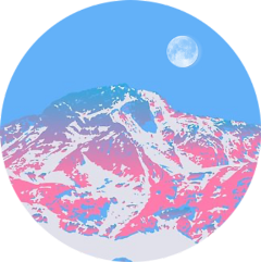 freetoedit mountain mountains blue pink scmountains