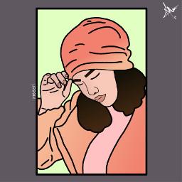 myart freetoedit art faceart girl outline draw freetoedit Background Backgrounds Arkaplan Duvarka Meeori