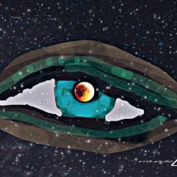 freetoedit eye universo ojo infinity dcoutlineart