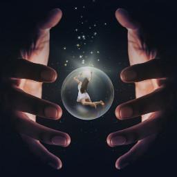 freetoedit surreal hands magical fantasy picsarteffects madewithpicsart myedit