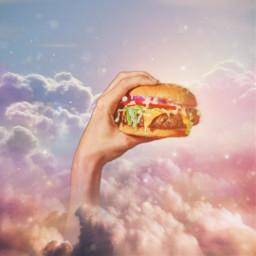 freetoedit imagination sky fastfoodstickers