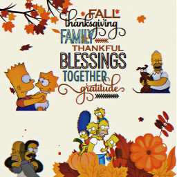 freetoedit thesimpsons family thanksgivingday thanks ircthankful