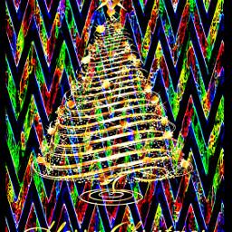 freetoedit remixed christmas tree doubleexposure